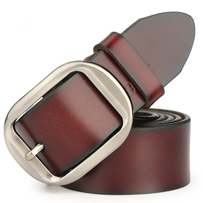Strap male genuine leather strap cowhide belt pure male pin buckle