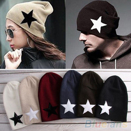 Pentacle Star Warm Skull Beanie Hip-Hop Knit Cap