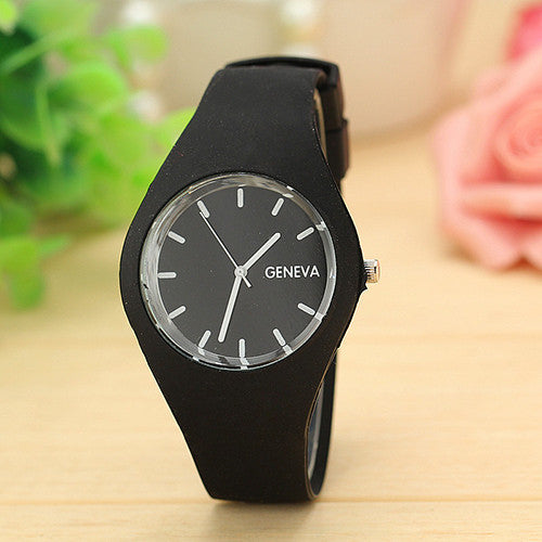12 Colors Jelly Silicone Strap Leisure Watch - Gifts Leads