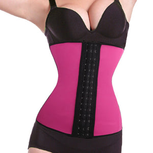 2016 Fashion Latex Waist Cincher Steel Boned Waist Training Corset Underwear Slimming Shaper Bodysuit Trainer Exercise Corset