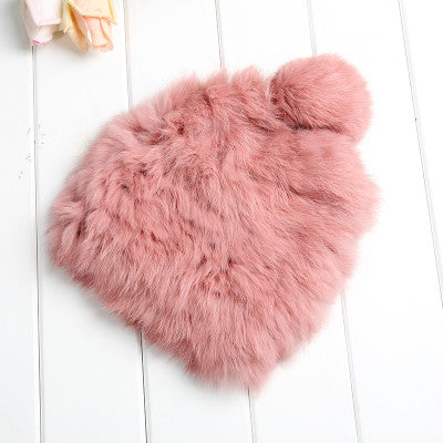 High quality Fashionable winter hats for women Rabbit