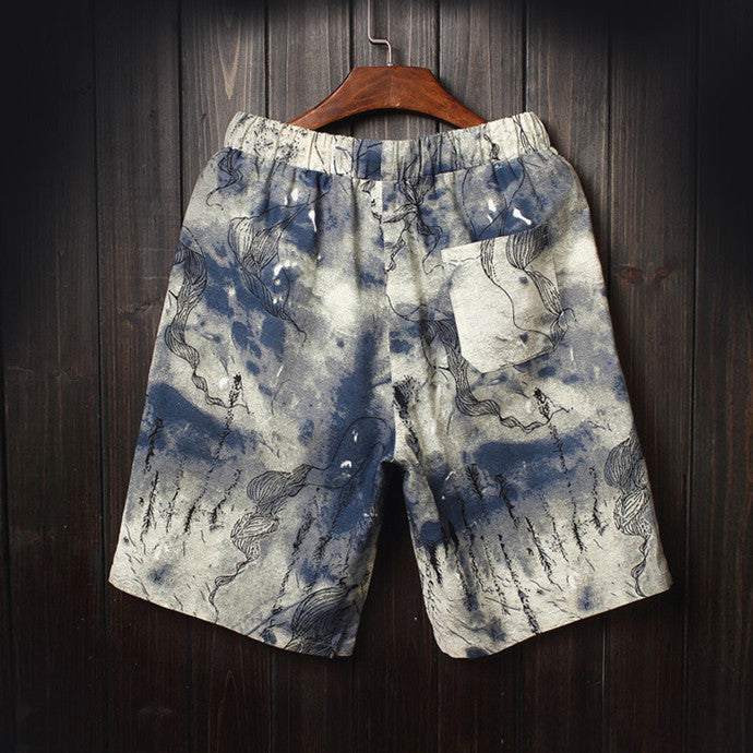 Men's beach shorts personality printing 2016 summer