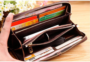 New arrival Famous Brand 2016 men wallets quality top zipper purse