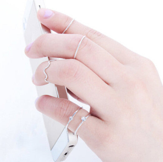 5Pcs\set Cute Chic Style Bright Crystal Rhinestone Midi Knuckle Finger Joint Rings women Ring free shipping