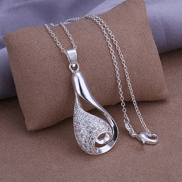 925 silver pendant necklace silver jewelry Necklace 925 necklace 925 sterling silver charm necklace P302