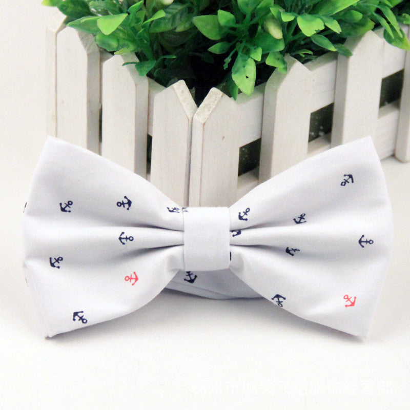 New 2016 Men's Bow Tie British Style Cotton Bowtie for Men