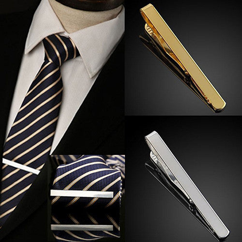 Hot! Fashion Men's Metal Silver Gold Simple Necktie Tie