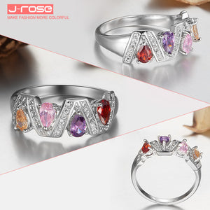Fashion Jewelry Wedding Rings for Women Ruby