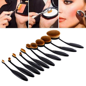 10PC/Set Pro Toothbrush Shaped Eyebrow Foundation Power Face Eyeliner Lip Oval Cream Puff Brushes Makeup Beauty Tools GUB# - Gifts Leads
