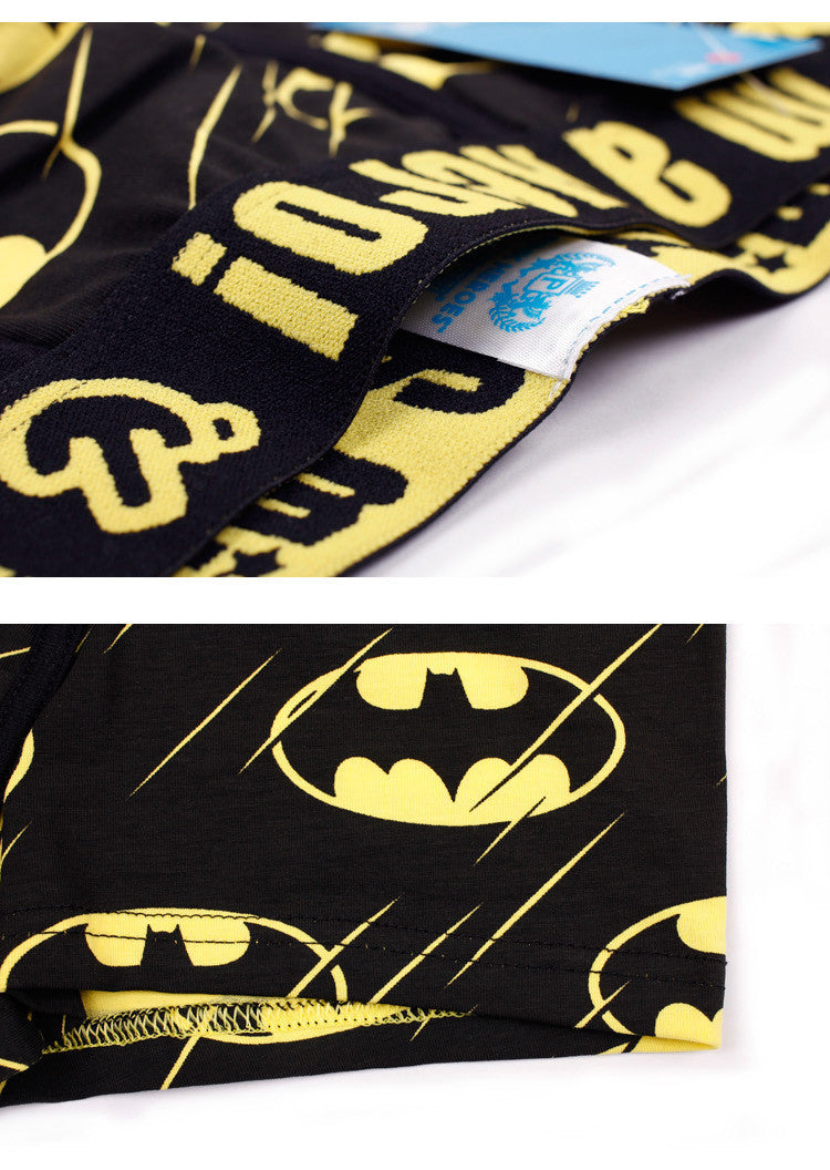 The Classic Batman Superman Cartoon Printing Cotton Men's Boxer