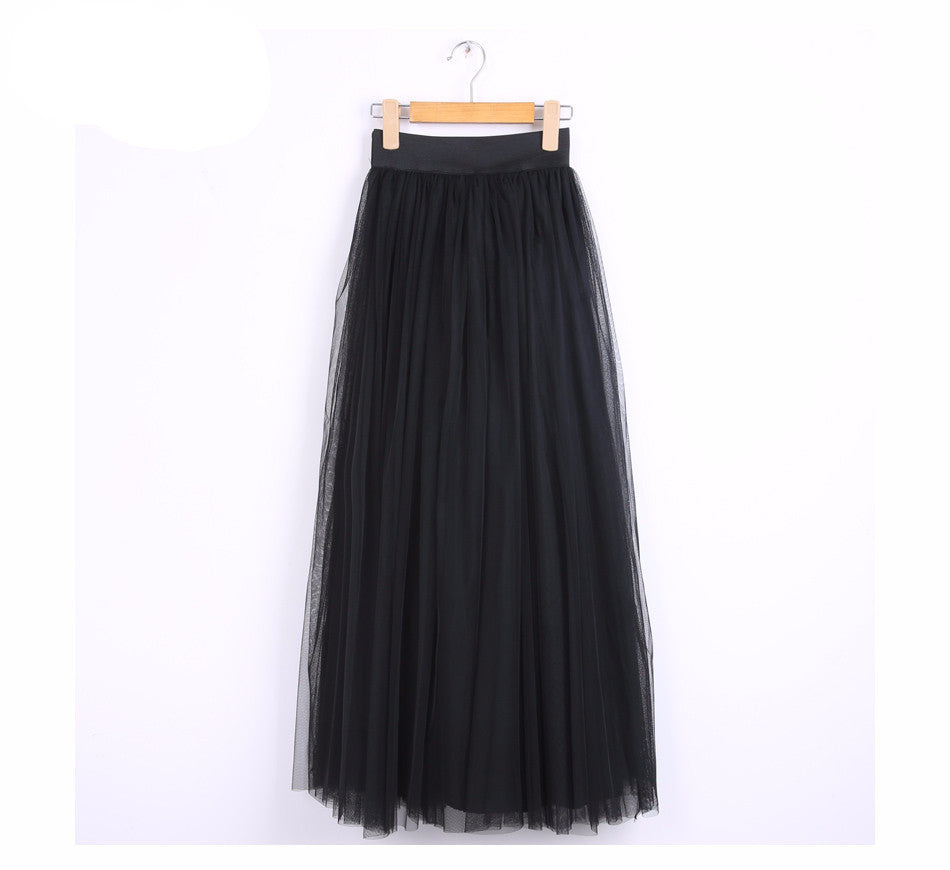 100cm Muslim Maxi Long Skirts 2016 Spring 3 Layers - Gifts Leads