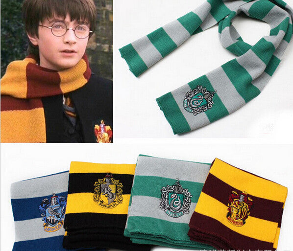 Harry Potter Scarf Scarves Gryffindor Hufflepuff Slytherin