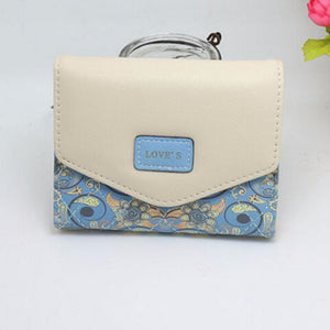 Fashion PU Leather Envelope Women Wallets 5 Colors Flowers
