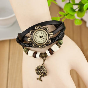 Relogio Feminino Weave Around Quartz-Watch Women