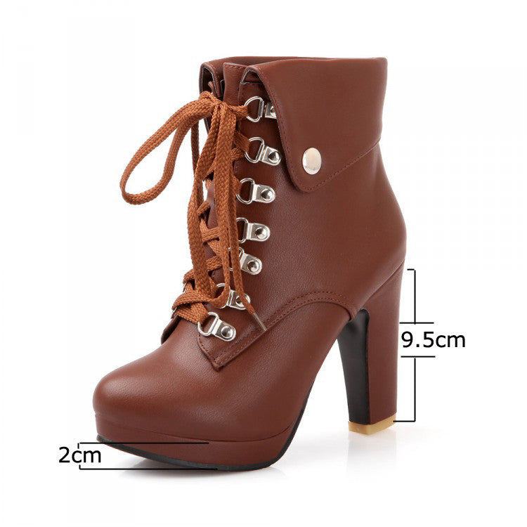 2016 New hot sale Fashion Women Ankle Boots High Heels