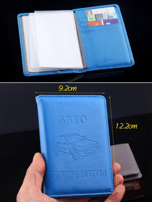High quality driver's license cover PU leather car