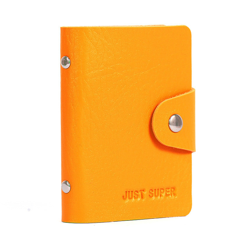 Men's Women Leather Credit Card Holder/Case card