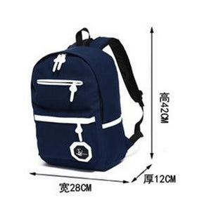 Preppy Style Canvas Bag Fashion Unisex Daily Backpack