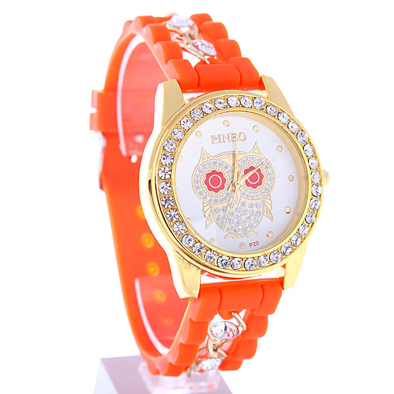 New Dress Casual Owl Quartz Clock Female Popular