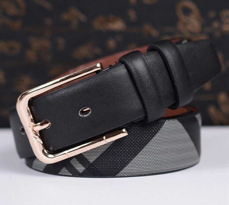 2016 New Brand Women Embossing Leather Belt Patchwork