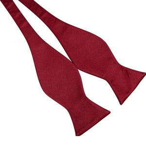 Hot Fashion Mens Bowties Solid Color Plain Silk Self Tie