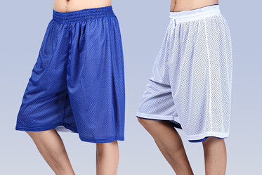 2016 Double trunks fashion elastic waist sports pants grid - Gifts Leads