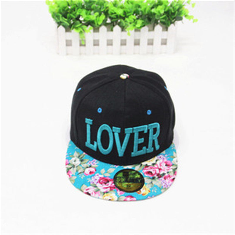 Fabric Flowers LOVER Caps 2016 Korean New Fashion