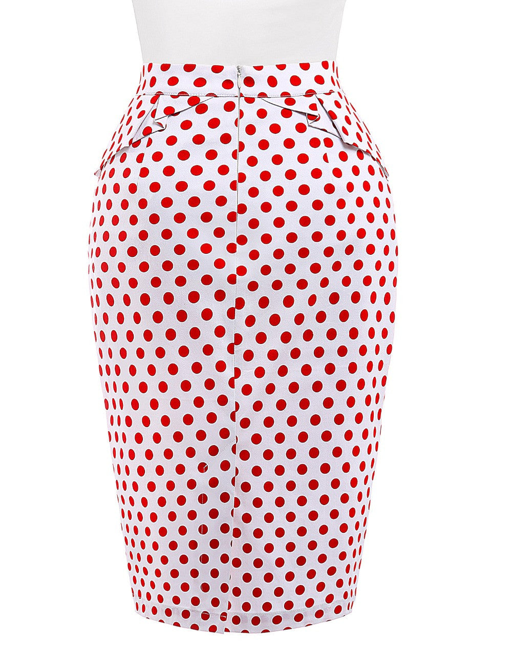 2016 Fashion 50s Summer style Womens Pencil Skirt Polka Dots woman Pleated Cotton sexy Bodycon Vintage Skirts Plus Size - Gifts Leads