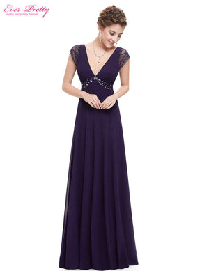 Free Shipping V Neck Lace Black Prom Maxi Summer Prom Evening Dress
