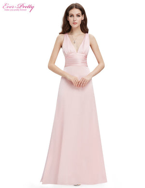 Elegant Sexy V Neck Pink Long Evening Dresses 2016 kim kardashian dress party evening elegant