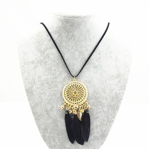 Indian Bohemian style sweater chain necklace temperament