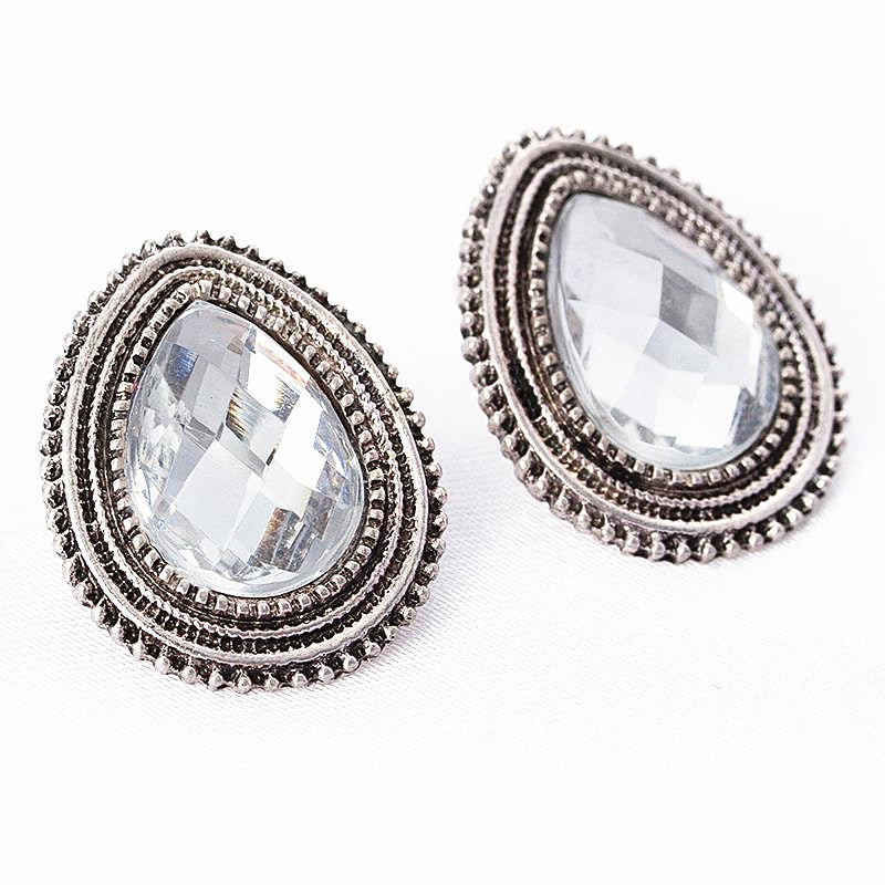2016 Fine Studs Earrings Fashion Jewelry,Gold Stud Earrings For Women Crystals Statement Shield Party Rhinestone Heart Earrings