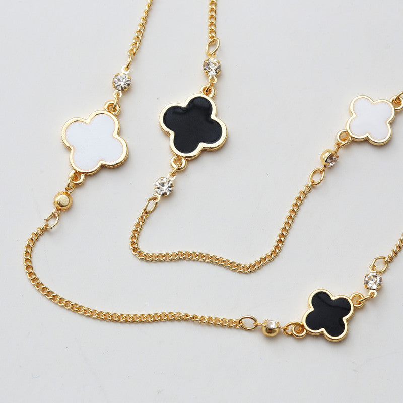 Women Sweater Chain Multi-layer Necklaces Gold Plated