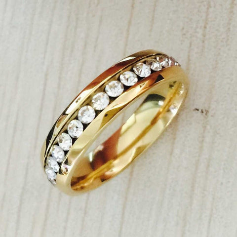 New alliance of  tungsten ring thin 4mm 18k gold wedding Brand Full