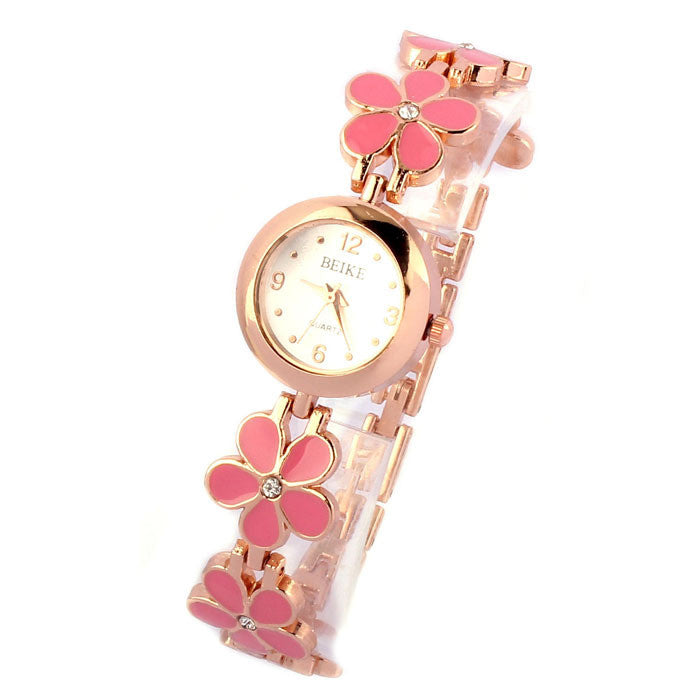 Daisies Flower Rose Gold Bracelet Women Girl