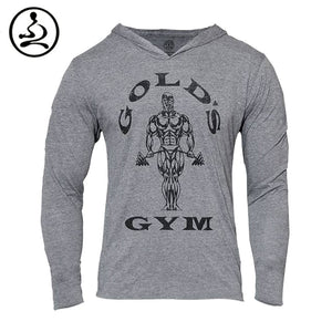 Mens Bodybuilding Hoodies Gym Hoody Long sleeve Fitness