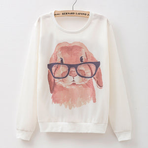 2016 New Female Hoodie Sweatshirt Print T-shirt