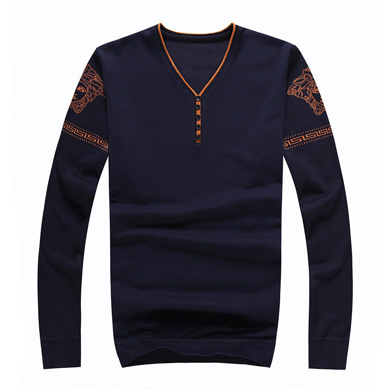 New 2016 Pullover men brand V-neck long sleeve