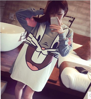 Large Size Women Long Section Harajuku Hedging Hoodies