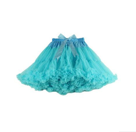 4d7c3f09f Fluffy Double Layers tutu Skirt Teenage Girl Pettiskirts long tulle Tutu  Skirts Women Party Dance Skirt