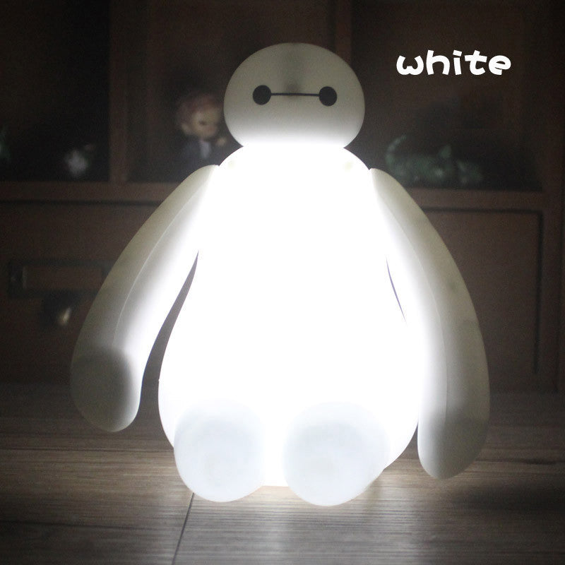 Big Hero Baymax Color Changing LED Light Night Table Lamp Decoration For Kids