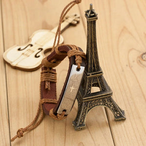 Bracelet Charm Genuine Leather Bracelets for Women Gifts Mens Bracelets 2016 100% Brand New