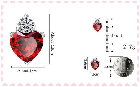 Fashion Zircon Rhinestone Alloy Heart love Pendant 925 Sterling Silver necklace for Women Jewelry 2016 New 4 colors