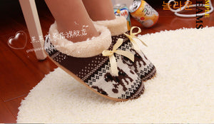 Russian Warm Cashmere Home Woman Slippers/Shoes