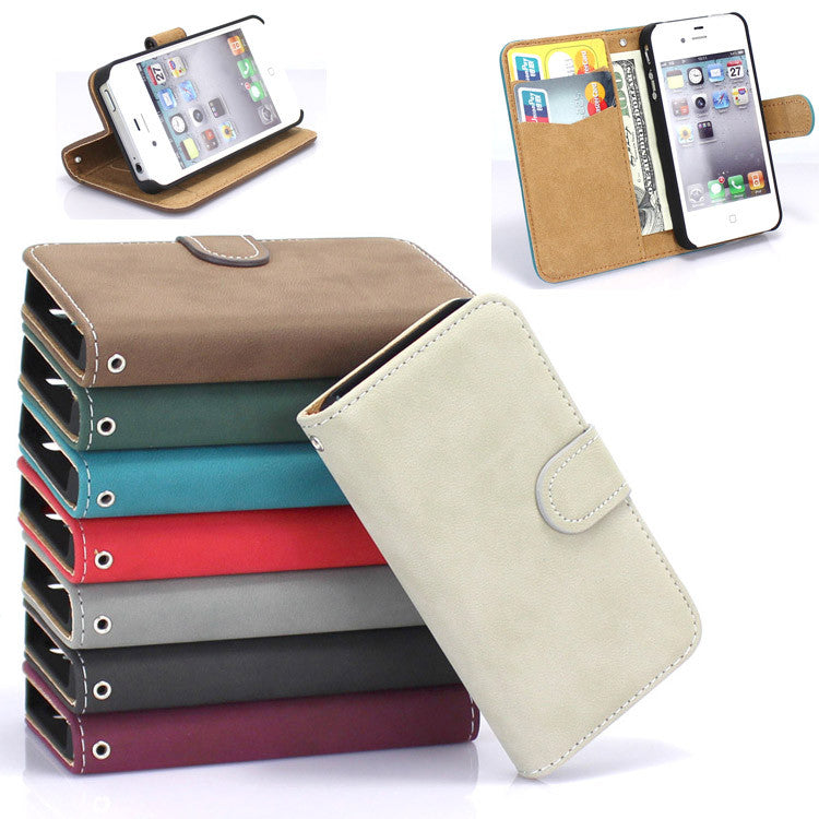 Pouch Leather Flip Hard Magnetic Style Cover Case