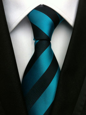 New Casual Wedding Tie Mens Plaid Stripe Print Design