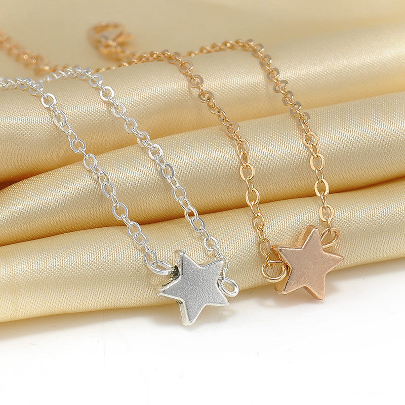2 Pcs Europe Style Star Pendant Charm Chain Bracelet Couple Bracelets Jewelry Friendship Gifts to Friends Lover - Gifts Leads