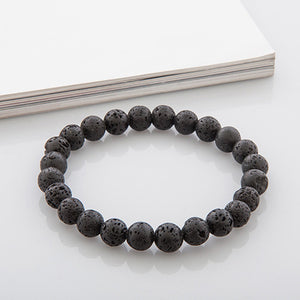 High Quality Tiger Eye Buddha Bracelets Natural Stone Lava Round Beads Elasticity Rope Men Women Bracele Bangle