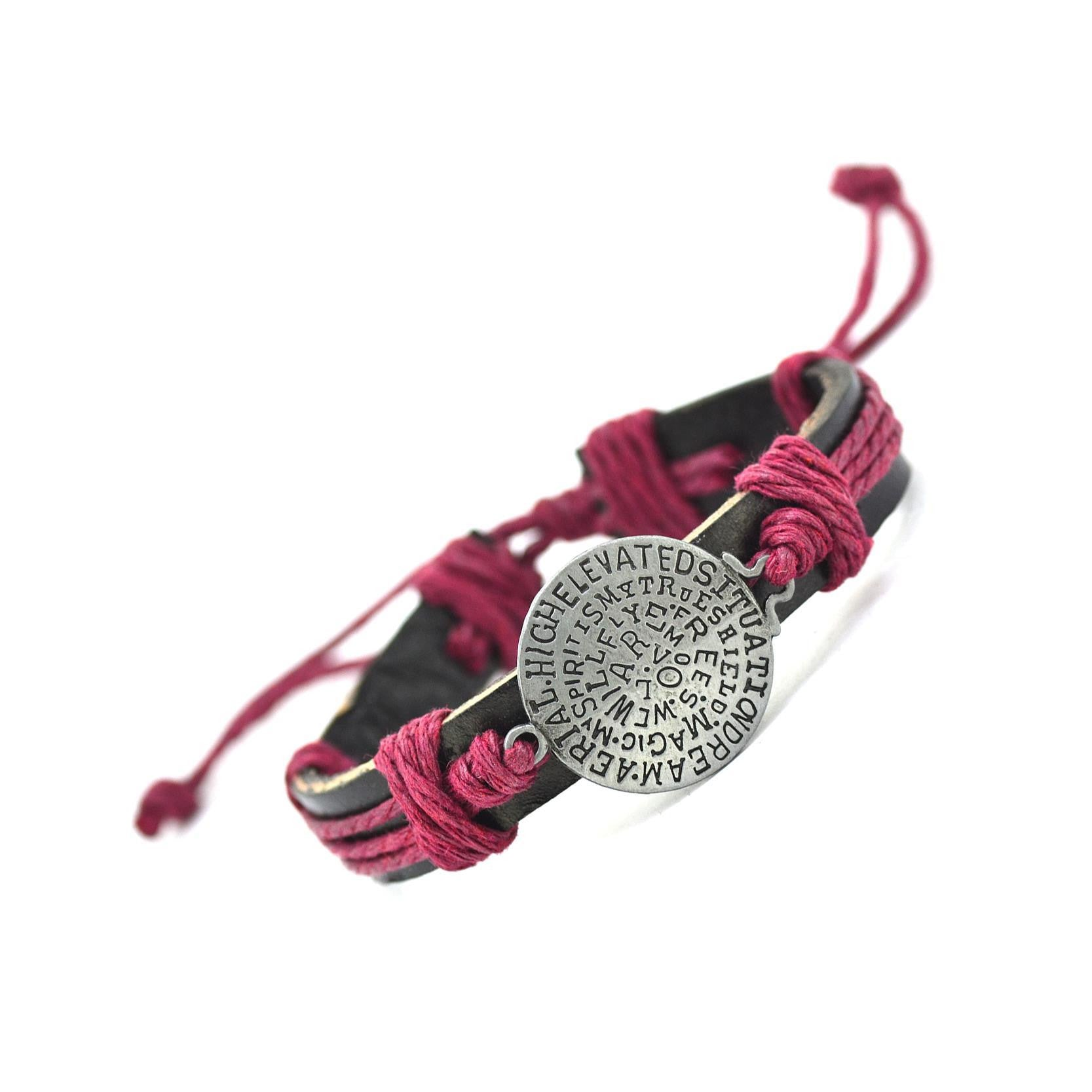New Fashion Hot Sales Cuff Charm Genuine Leather Bracelets & Bangles For Men And Woman Bracelets Bangles Jewelry