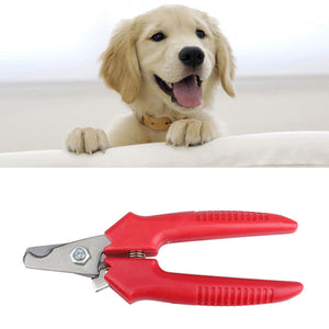 1 Pcs Red Brand New Cheap Pet Animal Dog Cat  Nail Clippers Scissors pet Toe Care Nail Grooming Trimmer Clipper  Stainless steel - Gifts Leads